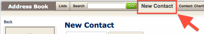 Add a new Contact2