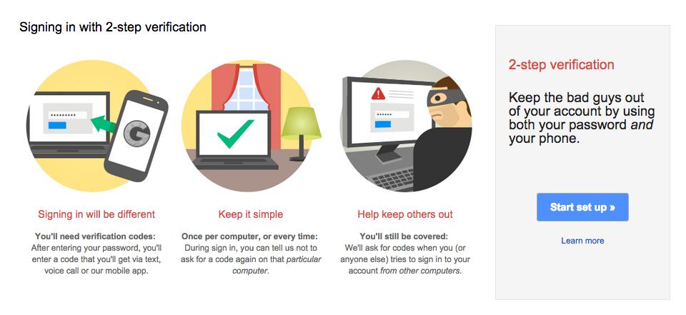 Turn ON 2-Step Verification (Google)1