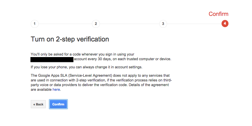 Turn ON 2-Step Verification (Google)4